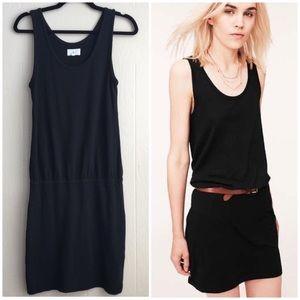 Lou & Grey Slub Knit Blouson Casual Tank Dress